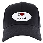 i heart my cat Black Cap