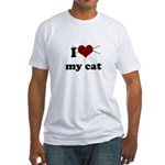 i heart my cat Fitted T-Shirt