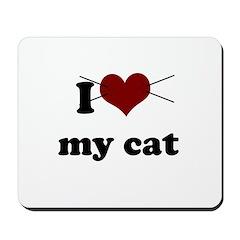 i heart my cat Mousepad