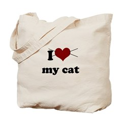 i heart my cat Tote Bag