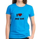 i heart my cat Women's Dark T-Shirt