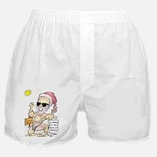 Santa Body Builder (Caption) Boxer Shorts