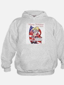 Patriotic Santa Hoodie