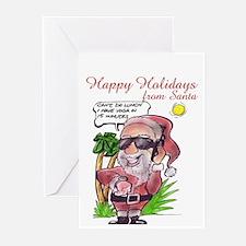 Santa's Yoga Date Greeting Cards (Pk of 10)