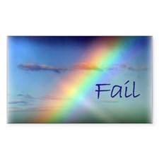 Rainbow Fail Hope Rectangle Decal