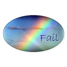 Rainbow Fail Hope Oval Decal