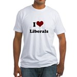 i heart liberals Fitted T-Shirt