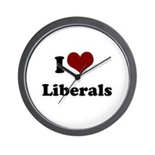 i heart liberals Wall Clock