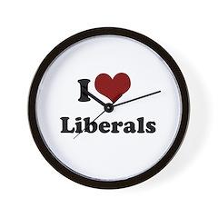 i heart liberals Wall Clock
