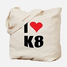 I (heart) K8 Tote Bag