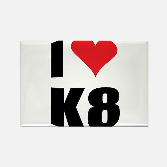 I (heart) K8 Rectangle Magnet