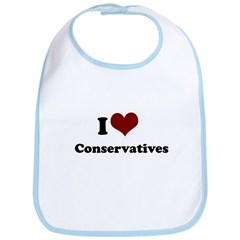 i heart conservatives Bib