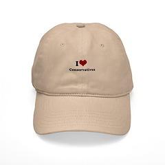 i heart conservatives Baseball Cap