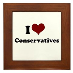 i heart conservatives Framed Tile