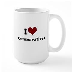 i heart conservatives Large Mug