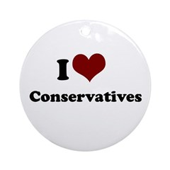 i heart conservatives Ornament (Round)