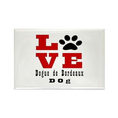 Love Dogue de Bordeaux Rectangle Magnet (10 pack)