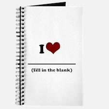 i heart _____ Journal