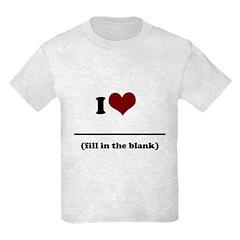 i heart _____ T-Shirt