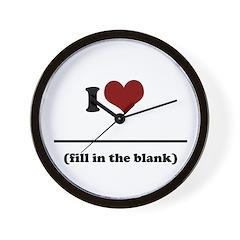 i heart _____ Wall Clock