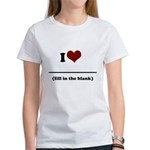 i heart _____ Women's T-Shirt