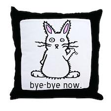 Bye-Bye Bunny Throw Pillow