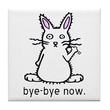 Bye-Bye Bunny Tile Coaster