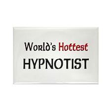 World's Hottest Hypnotist Rectangle Magnet