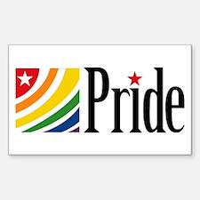 Pride - Star & Swirl Rectangle Decal