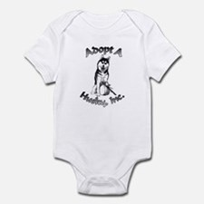 Adopt A Husky Logo Infant Bodysuit