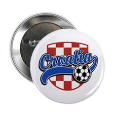 "Croatia Soccer 2.25"" Button"