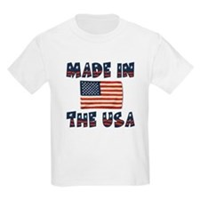 """""""Made In The USA"""" Kids T-Shirt"""