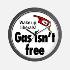 Gas isn't free Wall Clock