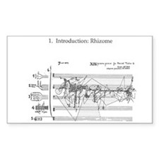 Rhizomes Rectangle Decal