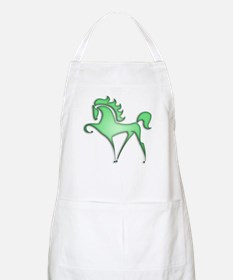 Stylized Horse (green) BBQ Apron