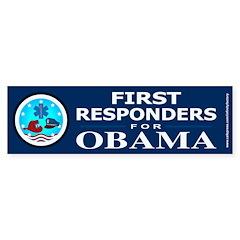 FIRST RESPONDERS FOR OBAMA Bumper Sticker (50 pk)