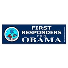 FIRST RESPONDERS FOR OBAMA Bumper Bumper Sticker