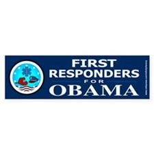 FIRST RESPONDERS FOR OBAMA Bumper Stickers