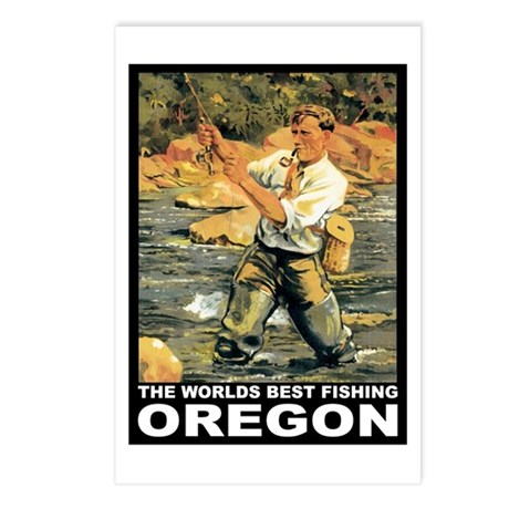 Oregon Fishing Postcards (Package of 8)