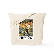 Oregon Fishing Tote Bag