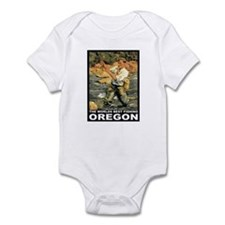 Oregon Fishing Infant Bodysuit