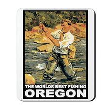 Oregon Fishing Mousepad