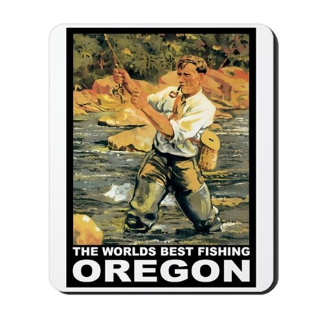 Oregon Fishing Mousepad