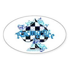 RaceFashion.com Oval Decal