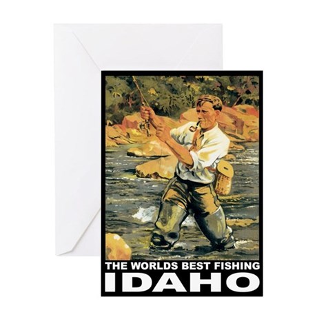 Idaho Fishing Greeting Card