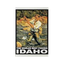Idaho Fishing Rectangle Magnet (100 pack)