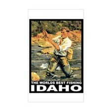 Idaho Fishing Rectangle Decal