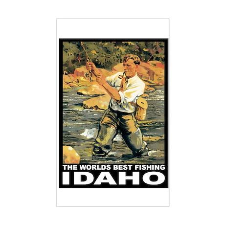 Idaho Fishing Rectangle Sticker