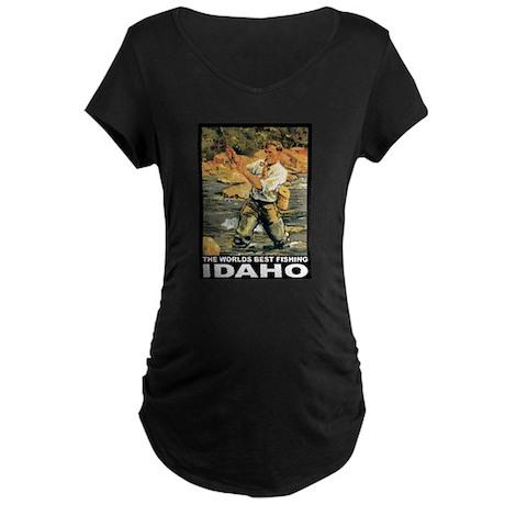 Idaho Fishing Maternity Dark T-Shirt