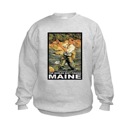 Maine Fishing Kids Sweatshirt
